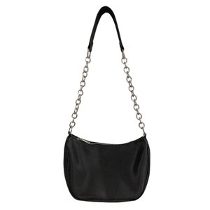 Minimalist cold retro wind 2020 spring and summer new crescent joker black chain underarm baguette shoulder bag woman