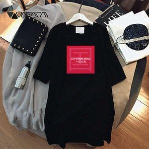 Мода Конструктор женщин T рубашка платья 2020 новое прибытие женщин платье с Stay Strong China Letter Printed тройники платье D001A322