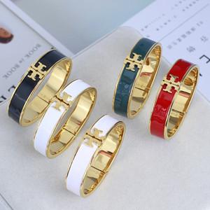 braccialetto caldo di vendita con il rosso bianco nero braccialetto di colore dello smalto verde in braccialetto 5,7 centimetri per le donne di nozze regalo gioielli PS6244 trasporto libero