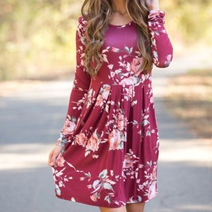 Enxi Spring Autumn Maternity Dress Long Sleeves For Pregnant Women Fashion Clothes For Pregnant Women Style Pregnancy Clothing S200107
