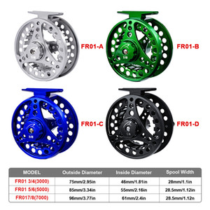 Fly Fishing Reels 3 4 5 6 7 8 Fly Fishing Reel Aluminum Fly Reel CNC Machine Cut Large Arbor Die Casting