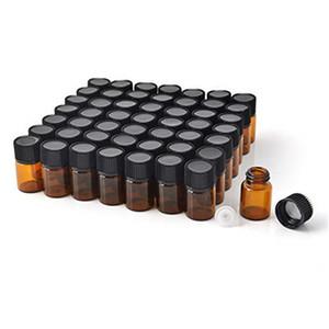 1ml 2ml 3ml 5ml Bernsteinglasflasche Mini Essential Öl Gläser Kosmetik Make-up Probe Packung Parfüm Lagerbehälter Fläschchenfläschchen