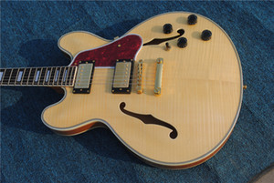 NEW Custom Electric Guitar ,Natural semi Hollow 339 Jazz Guitar ,Mahogany body and neck ,Free Shipping