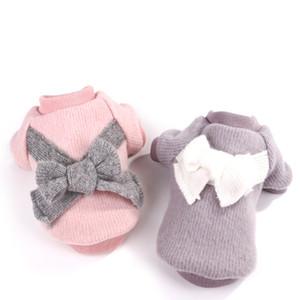 Пятно зоотоваров Four Seasons Симпатичные Одежда для собак Brushed Ткань лук Домашние корейских Teddy Pet Одежда