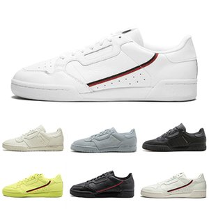 Adidas ORIGINALS CONTINENTAL 80  Calabasas Scarpe casual Kanye West Aero blu Core nero OG bianco Uomo donna Trainer Sport Sneakers 40-45