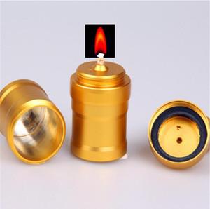 Accesorios de aluminio pipa de agua lámpara de alcohol fumadores Material de laboratorio edición del oro de acero inoxidable de mini lámparas de alcohol de regalo del metal ligero de alcohol