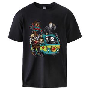 Park Korku Filmi Adam Yaz Tshirts Erkek Pamuk T Shirt Theme Park Palyaço Testere Cadılar Bayramı Spor Boyut S-3XL