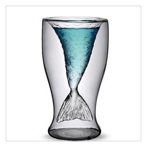 Venta caliente Higiene sirena creativa vasos de cerveza de cristal taza de cerveza taza creativa de belleza Cristalería Vasos Coctel de camarón