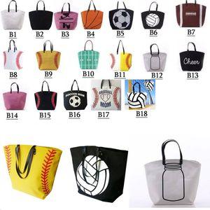 Baseball bolsas Sports Basquetebol Bolsas Softball Bolsa de Futebol Futebol Basquete Cotton Canvas Tote Bag
