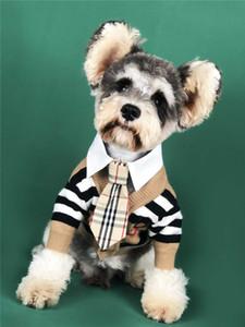Marea di controllo Stampa Animali Cardigan Cappotti Fashion Dog stampa Abbigliamento per Teddy Schnauzer Pomerania Bulldog animali Denim cappotti di alta qualità