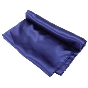 1 Set Synthetic Silk Bed Sheet Solid Color Flat Sheet Soft Mattress Cover for Home Bedroom Decoration (Blue)