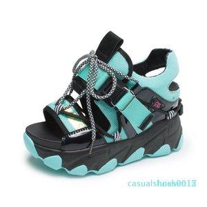 Women Chunky Platform Sandals 10cm Super High Heels Casual Shoes British Style Designers Woman Wedge Fashion Sandal Ladies 2020 l15
