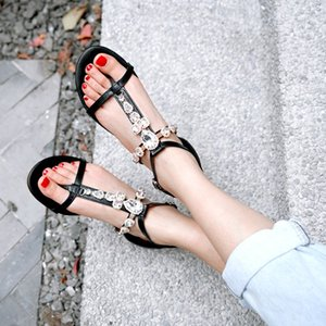 Big Size 11 12 13 14 15 16 17 18 19 high heels sandals women shoes woman summer ladies Toe-clipping drill buckle sandals