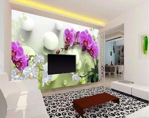 Custom wallpaper 3D mural HD Phalaenopsis TV background wall living room bedroom home decoration 3d wallpaper sticker