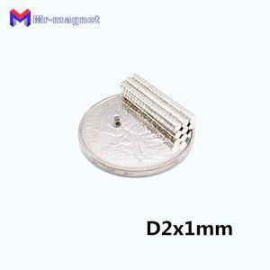 2019 imanes 200Pcs 2x1 neodimio permanente N35 NdFeB super forte Potente piccola rotonda magnetica dischi magnetici da 2 x 1mm