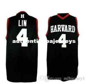 Universidade barato # 4 Jeremy Lin retro camisa basquetebol dos homens Retro Throwbacks basquete universitário jerseys Personalizar qualquer tamanho