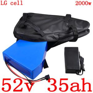 аккумулятор 52V 35AH 52 52V литий электрический велосипед батареи 1000V 1500W 2000W электрический использование батареи LG мобильный телефон с зарядным устройством скутера