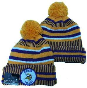 Топ Qualtiy Миннесота шапочку Мин casquette Sideline шапочки для холодной погоды Reverse Спорт наручниках Knit Hat с Pom Винер Череп Caps