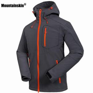 Mountainskin الرجال سوفتشيل سترات windstopper ماء التنزه سترات الشتاء سميكة المعاطف الرحلات التخييم تزلج RM033