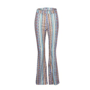 vintage floral flared pants bell bottom wide leg trousers women clothes streetwear loose korean spring legging soft lure c0314