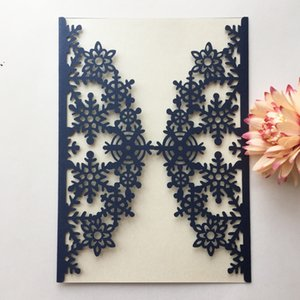 Light extravagance hollow chic ice flower butterfly laser cut Pearl paper envelop wedding invitaion birthday dinner party Free Shipping