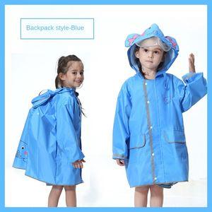 xJFbS Children's raincoat boys Bag Cloak cloak and girls kindergarten baby waterproof environmental protection belt schoolbag poncho childre