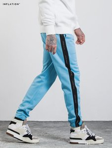 Stylish Contrast Track Pants Side Striped With Letter Printed Pants Elastic Waist Casual Jogger Legging Pants Clothing