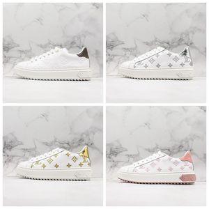Louis Vuitton FW Time Out Sneakers Low Cut rhyton Ace Plattform Damen Designer-Schuhe für Frauen-Sport-Leder-beiläufigen Luxus Sneaker Größe 35-40 xshfbcl