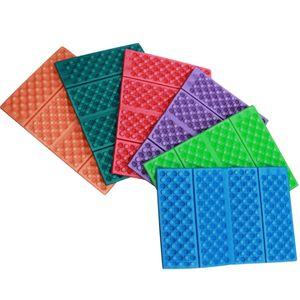 HOT-6PCS Outdoor Portable Lightweight Honeycomb XPE Foam Folding Cushion Single Moisture-Proof Mini Dirt-Resistant Cushion
