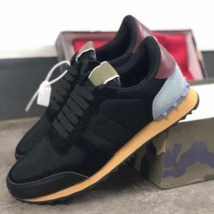 mens luxury designer rockrunner camouflage Sneakers Shoes Men Women Flats baskets de marque de designer de luxe femmes Casual Shoes xshfbcl