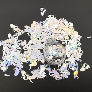 100g Holographische Laser Meerjungfrau Geformt Festival Nägel Chunky Glitter Pailletten Maniküre Pigment Art Shiny Nail Flakes DIY Dekoration