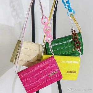 кошелек крюк продажа Famousr сумка 2019 новый крокодил узор маленькая квадратная сумка цвет цепи пряжка флип сумка кожаная багажная бирка