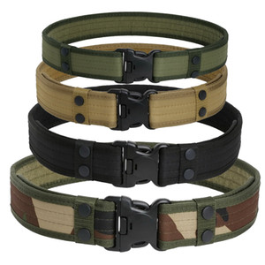 Tactical Belt SWAT Duty Gear Men Automatic Buckle Waist Support Belt Hiking Sports Casual Nylon Molle Canvas