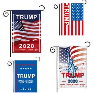 Jardin Bannière 2020 Trump Drapeau Élection tergal Drapeaux Oblong Conspicuous nous Campagne Maison Party Décore Hot Vente 5 5mxa D2