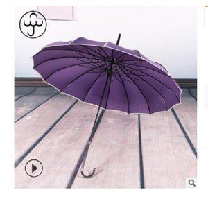 2020 venda quente 16K longa alça pólo reta nupcial guarda-chuva ao ar livre guarda-sol longa-handle guarda-chuva à prova de vento guarda-chuva Baobian pagode pur profunda