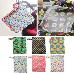 Wet Dry Cloth Diaper Bags Hanging Diaper Organizer with Two Zippered Pockets
