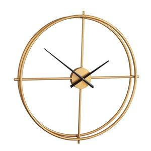 "Vintage Wall Clock Round 2-tier Metal Wall Hanging Clock 40cm 15.7"""