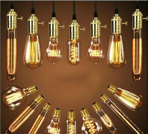 Retro Edison Light Bombilla E27 110V 220V 40W ST64 A19 T10 T45 T185 Filamento Ampolla Vintage Ampolla Incandescente EDISON LÁMPARA