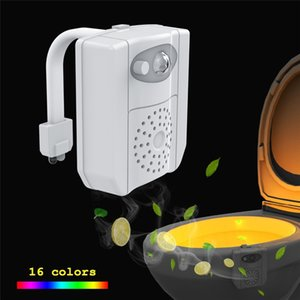 스마트 PIR 모션 센서 변기 UV 소독 나이트 라이트 (16 개) 색상 방수 백라이트 화장실 변기는 아로마 테라피 램프를 LED