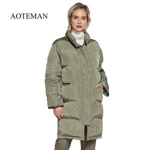 AOTEMAN Neue Frauen Parka Herbst Wintermantel Plus Größe Lange Dicke Baumwolle Warmen Mantel Weiblichen Beiläufigen Stehkragen Jacke Ukraine