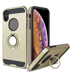 Magnetic Ring Kickstand 360 Degree Rotating Holder Dropproof Case TPU+PC Material Hybrid Dual Layer for iPhone 11 X Xr Xs Max
