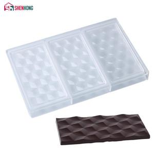 SHENHONG 3D Cubes Polycarbonate chocolat barres moule pour la cuisson T200328
