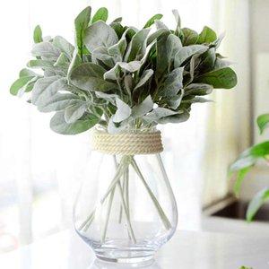 36cm 인공 녹색 플라스틱 몰려 잎 꽃꽂이 재료 홈 호텔 장식 웨딩 사진 소품을 식물