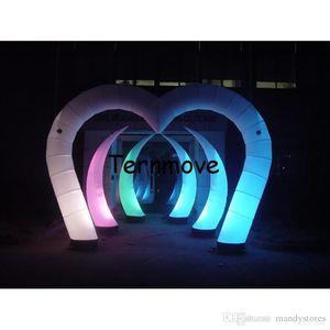 قوس ضوء قابل للنفخ، قابل للنفخ مجرى الهواء مع ضوء LED، والإعلان خيمة قوس قابل للنفخ للبيع زفاف عيد الحب زخرفة