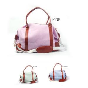 Großhandel Seersucker Streifen-Gewebe Weekender Bag Qualitäts-Baumwollhandtasche über Nacht großer Kapazitäts-Einkaufstasche Reisegepäcktasche