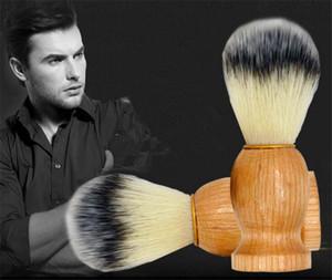 Herren Rasierpinsel Salon Herren Gesichts Bart Reinigungsgerät Rasierwerkzeug Rasierpinsel mit Holzgriff für Herren
