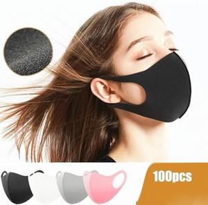 EE.UU. robots 24H, envío de DHL, mascarillas anti polvo Mezcla de algodón y máscaras de protección de la punta Máscaras Moda reutilizables para Adultos