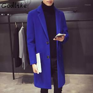 GODLIKE 2018 Männer Winter neue Mode business casual in der langen, schlanken Ärmel Baumwolle Wollmantel Jacket1
