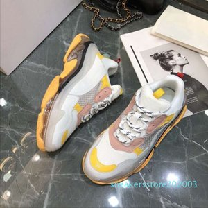 Retro Luxury Sneakers Triple S Men Women Casual Shoes Low Tops Lacing-Up Flat Outdoor Shoes Chunck Height Increasing Casusl Sneaker s03