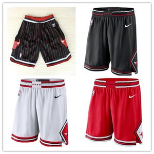ChicagoBullsUomini pantaloni cittàbasket NBA swingman prestazioni Shorts S-2XL